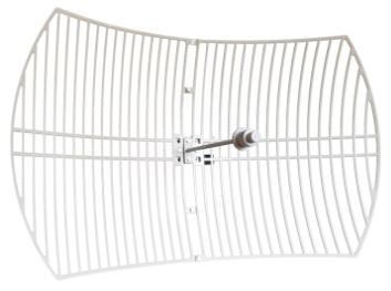 آنتن Parabolic با توان خروجی 29.5dBi پخش کننده سیگنال در یک جهت زاویه تابش سیگنال به صورت افقی 4 درجه زاویه تابش سیگنال به صورت عمودی 6 درجه پشتیبانی از فرکانس 5 گیگاهرتز